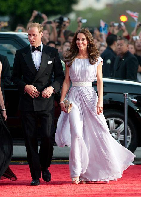 Kate Middleton i książę William na czerwonym dywanie