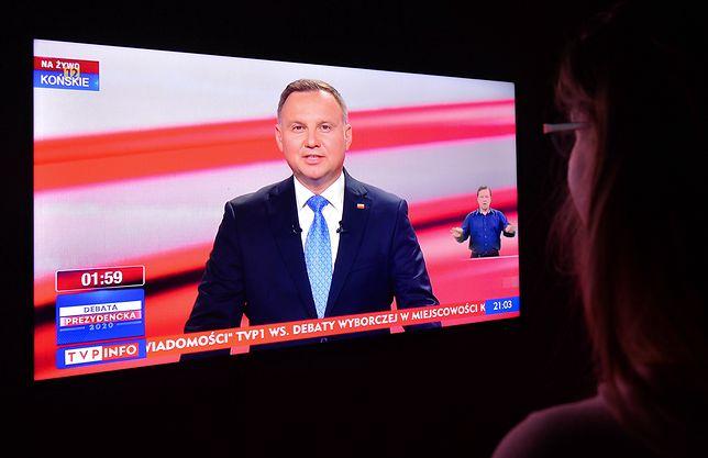 Debata prezydencka TVP w Końskich. Według ekspertki mowy ciała Andrzej Duda zdradzał wielki stres podczas wystąpienia