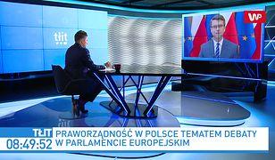 Debata w PE ws. praworządności w Polsce. Piotr Mueller: niech ktoś wskaże, jakie prawa są łamane
