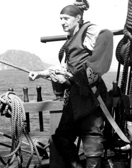 """Jerzy Celiński na planie filmu """"Pirates"""""""