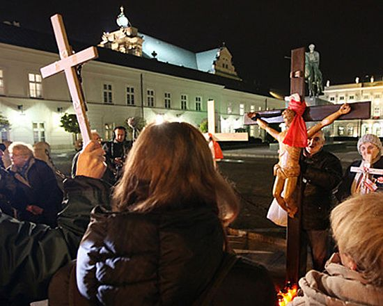 Co wykazała sekcja zwłok obrońcy krzyża?