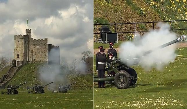 W całym Zjednoczonym Królestwie wystrzelono salwy, aby uczcić pamięć zmarłego księcia Edynburga.