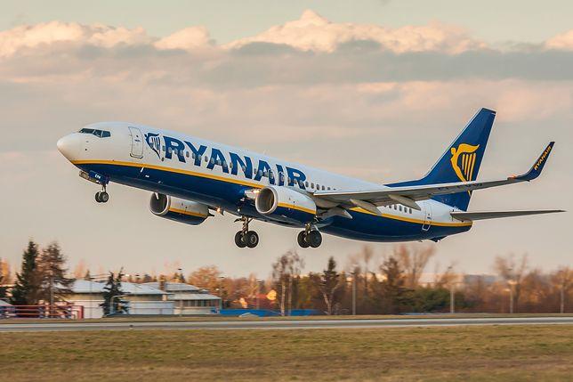 Poznań. Awaryjne lądowanie samolotu Ryanair. Nie żyje pasażer