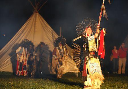 Pokaz tańców indiańskich w Jaworznie