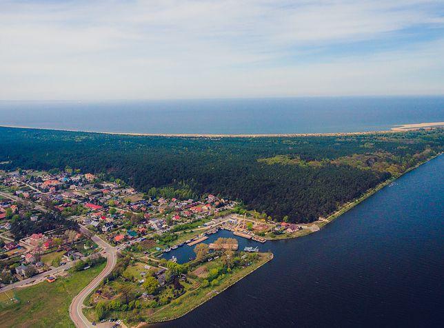 Ujście Wisły do Bałtyku na Wyspie Sobieszewskiej