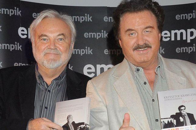 Andrzej Kosmala i Krzysztof Krawczyk podczas promocji biografii artysty