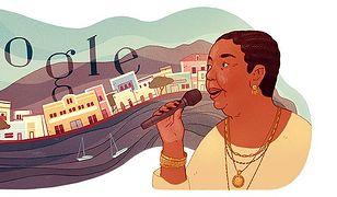 Cesária Évora w Google Doodle