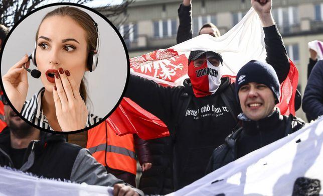 Protest antyszczepionkowców i przeciwników noszenia maseczek w Katowicach