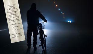 Było ciemno, a mężczyzna jechał rowerem bez świateł