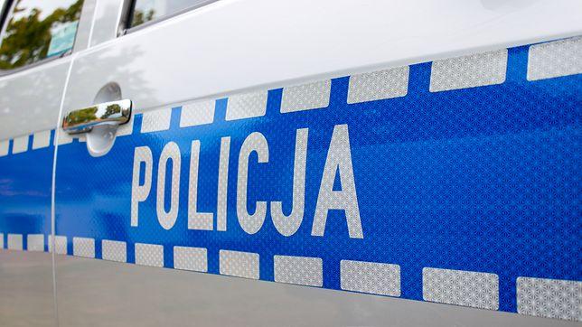 Policja zabezpieczała miejsce wypadku
