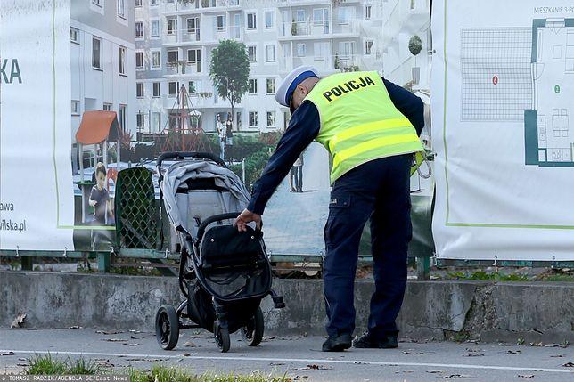 Warszawa. Żona ofiary wypadku na Bielanach: cieszę się, że właśnie tym razem idąc na spacer, zapięliśmy pasy poprawnie