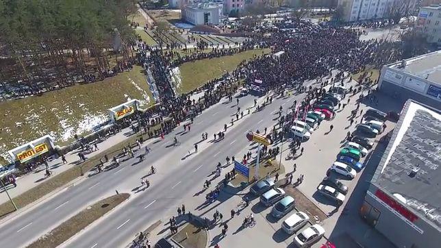 Wielotysięczny protest w Mielcu
