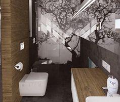 Zamiast płytek ceramicznych, czyli łazienka w betonie