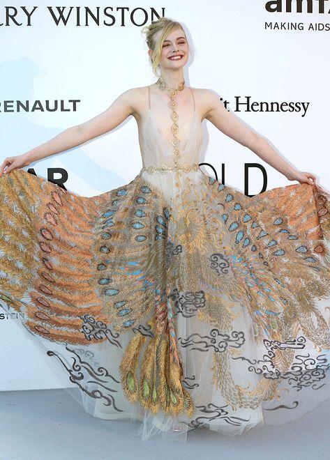 Elle Fanning w sukience Valentino