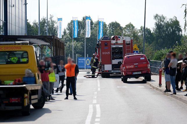Sosnowiec. Wybuch gazu na parkingu przed Castoramą