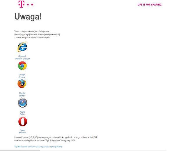 Napotkane na Google Chrome 50