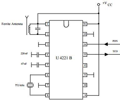 Schemat ideowy odbiornika DCF77