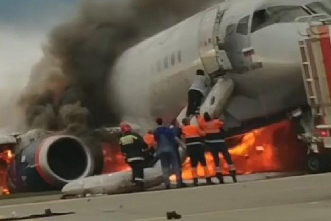 Katastrofa samolotu w Moskwie. Nowe nagranie z bohaterskim pilotem