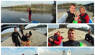 Weekendowy surfing na Wiśle [WIDEO]