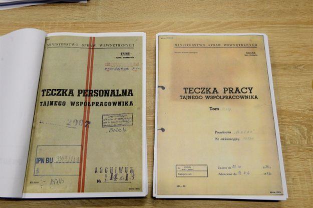 Część dokumentów udostępnionych przez IPN
