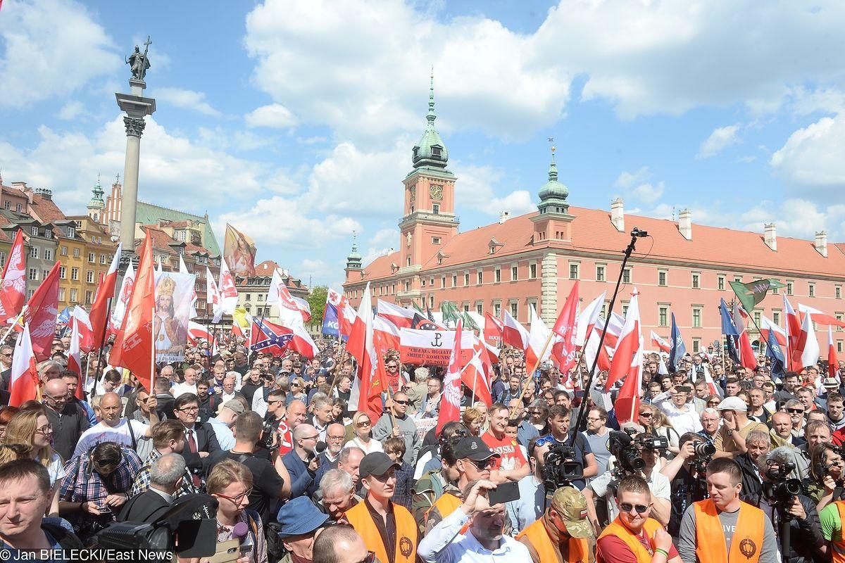 Wielki Marsz Suwerenności w Warszawie. Była próba blokady