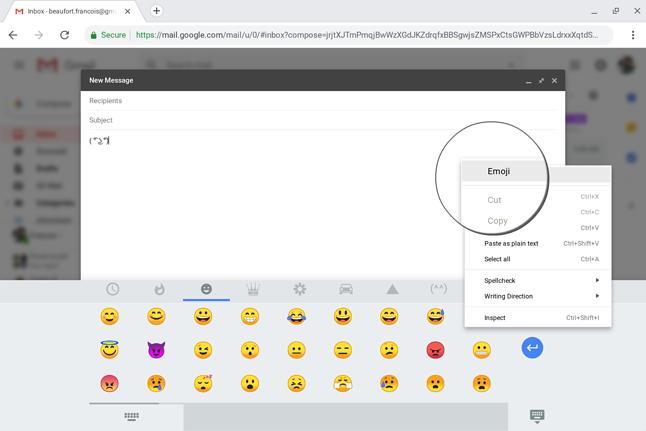 Nowy skrót do listy emoji, źródło: 9to5Google.