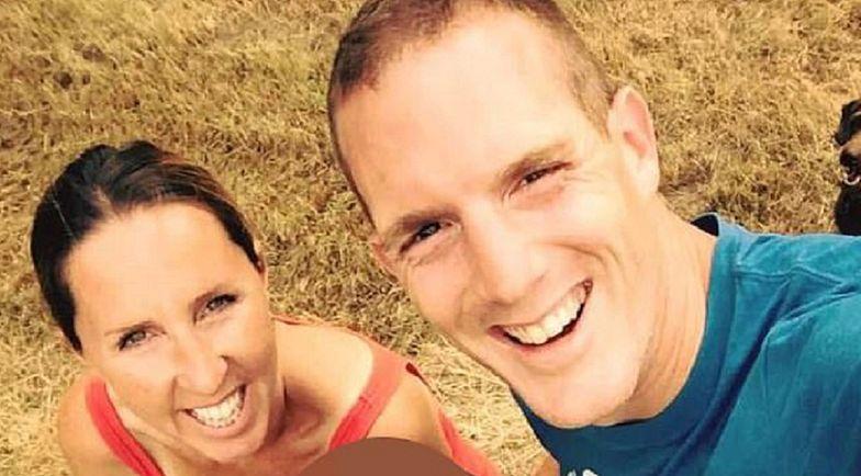 Oskarżony o morderstwo policjant na zdjęciu z żoną