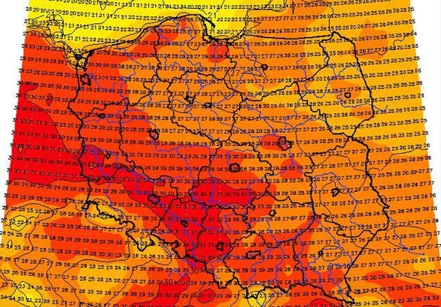 Pogoda. IMGW ostrzega, bo upałom (mapa na poniedziałek) będą towarzyszyć burze z gradem.