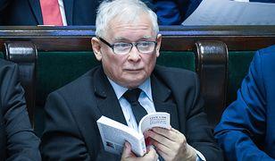 Jarosław Kaczyński na sejmowym posiedzeniu