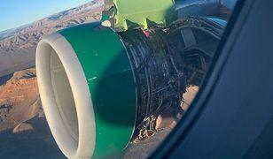 Pokrywa silnika spadła nad Las Vegas. Nagranie pasażerów