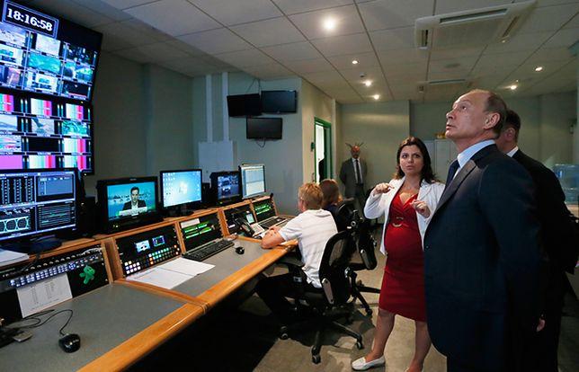 Rosyjski prezydent Władimir Putin w siedzibie stacji Russia Today