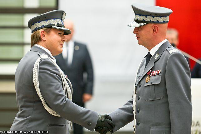 Szefowa lubuskiej policji gen. Helena Michalak i komendant główny policji Jarosław Szymczyk