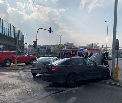 Zderzyły się trzy samochody osobowe
