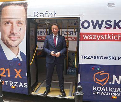 Rafał Trzaskowski podczas kampanii wyborczej