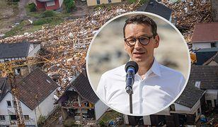 Premier Morawiecki chce pomóc Merkel i Belgom. Chodzi o powodzie