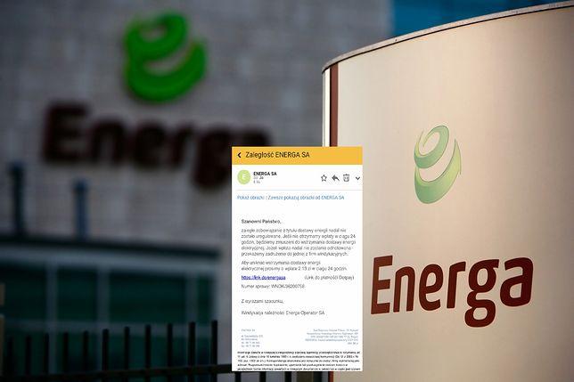 Otrzymałeś wiadomość od Energii o niewielkiej zaległości w opłatach za energię? Lepiej uważaj.