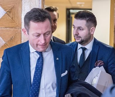 Paweł Rabiej i Patryk Jaki podczas obrad Komisji do spraw reprywatyzacji nieruchomości warszawskich