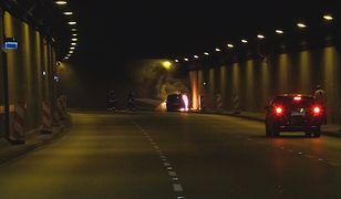 Tunel Wisłostrady był zamknięty na czas gaszenia pożaru