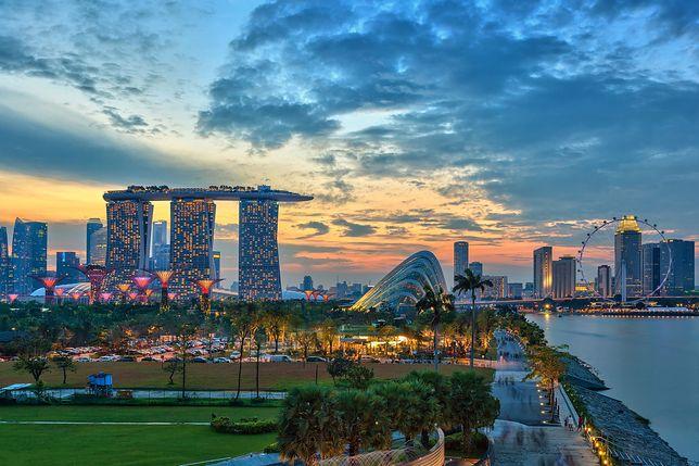 Widok na marinę w Singapurze