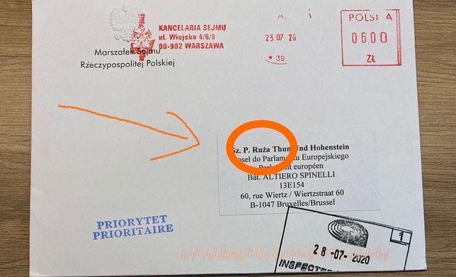 Zaprzysiężenie prezydenta. Róża Thun otrzymała zaproszenie z błędem w jej imieniu