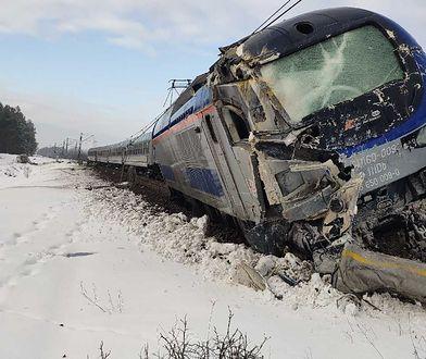 Grajewo. Pociąg Intercity zderzył się z cysterną. Spore utrudnienia