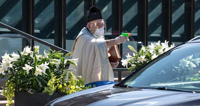 """""""Nasza parafia bardzo poważnie potraktowała epidemię koronawirusa"""" (fot. St. Ambrose Parish)"""
