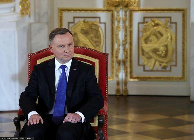 Prezydent Andrzej Duda podczas inauguracji II kadencji