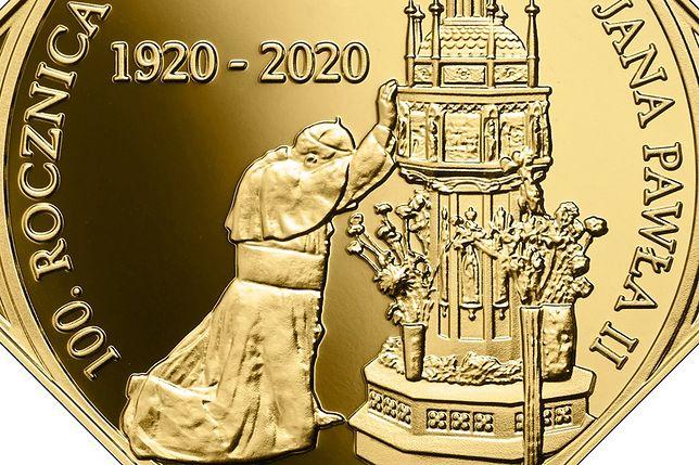 Jan Paweł II na monecie kolekcjonerskiej NBP