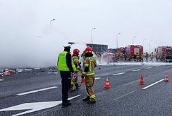 Śląskie. Samochody płonęły na autostradzie A4 w Gliwicach. Zablokowany ruch w kierunku Wrocławia