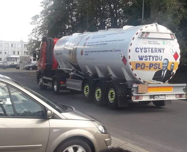 """Wybory parlamentarne 2019. PiS wysyła """"cysterny wstydu PO-PSL"""""""