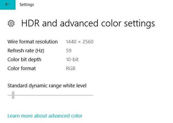 W Ustawieniach można teraz dostosować poziom bieli dla materiałów SDR wyświetlanych na ekranach HDR. I to z grubsza tyle.