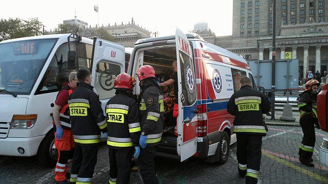Mężczyzna podpalił się na Placu Defilad przed PKiN w Warszawie