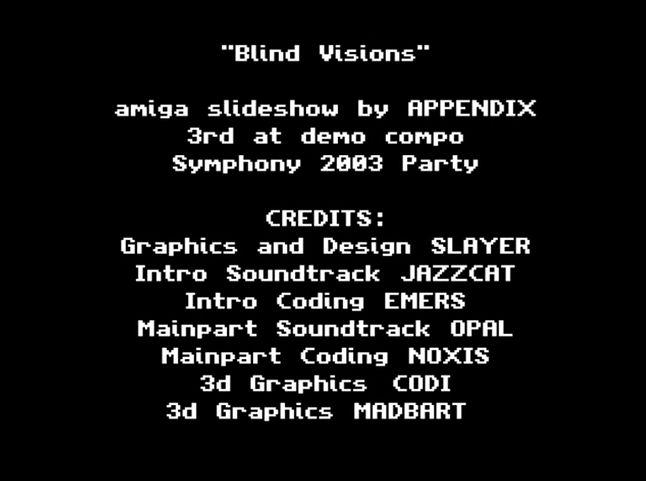"""Tzw. lista płac w produkcji grupy Appendix """"Blind Visions"""" z 2003r."""