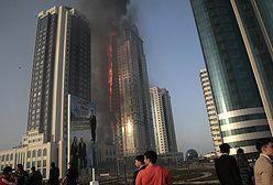 Pożar luksusowego hotelu w Rosji